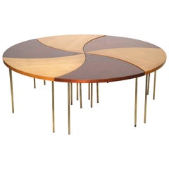 1950s Rarest Peter Hvidt Cocktail Table for John Stuart Int., Custom Two-Tone