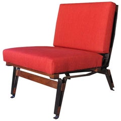 Ico Parisi Armchair Model 856, Cassina 1958, Wood and Metal