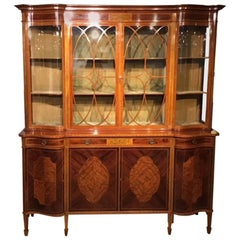 Superb Large Mahogany Edwardian Period Antique Display Cabinet by Maple & Co