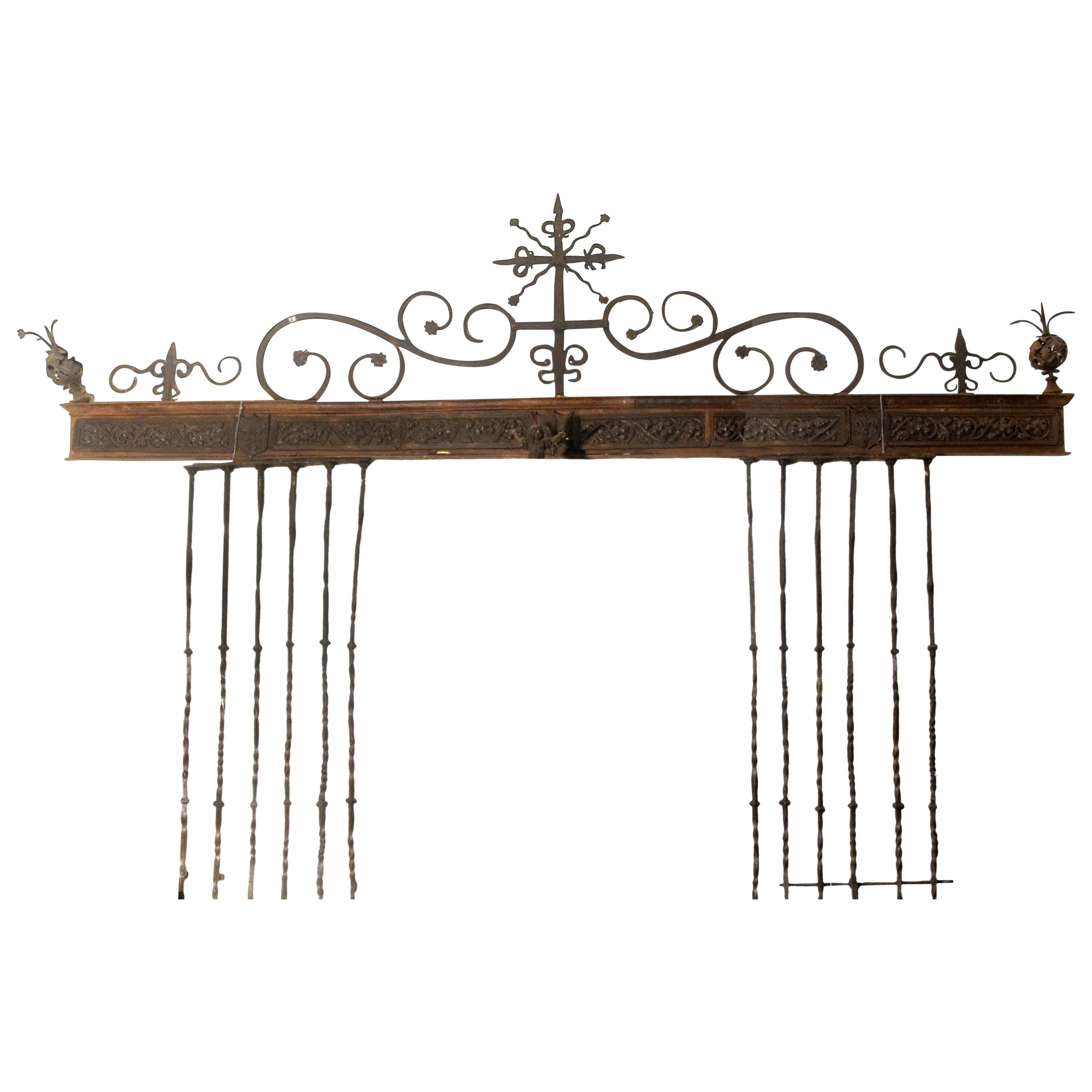 Wrought Iron Grille, Spain, 16th Century