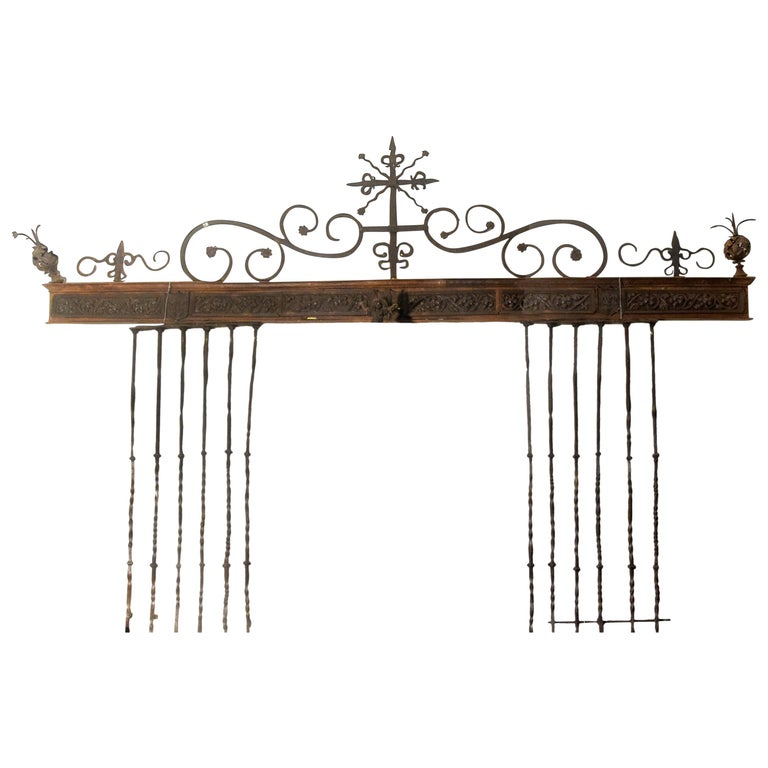 Wrought Iron Grille, Spain, 16th Century For Sale
