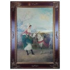 """Stephan Sedlacek """"Do You Love Ne"""" Portrait Painting in Oil on Canvas Framed"""