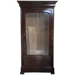 Antique Louis Philippe Single Door Armoire