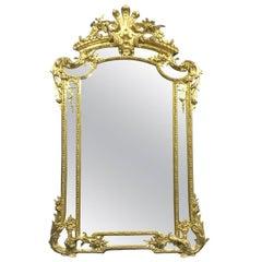 Palacial Very Glamorous 19th Century French Gilt Mirror