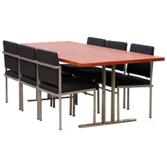 Dutch Minimalist Parlez Dining Set, Rob Parry for Stabin-Bennis in Teak & Metal