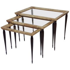 Three Nesting Tables Attributed to Aldo Tura