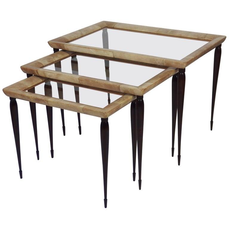 Three Nesting Tables Attributed to Aldo Tura