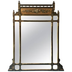 19th Century Hand-Painted English Mirror
