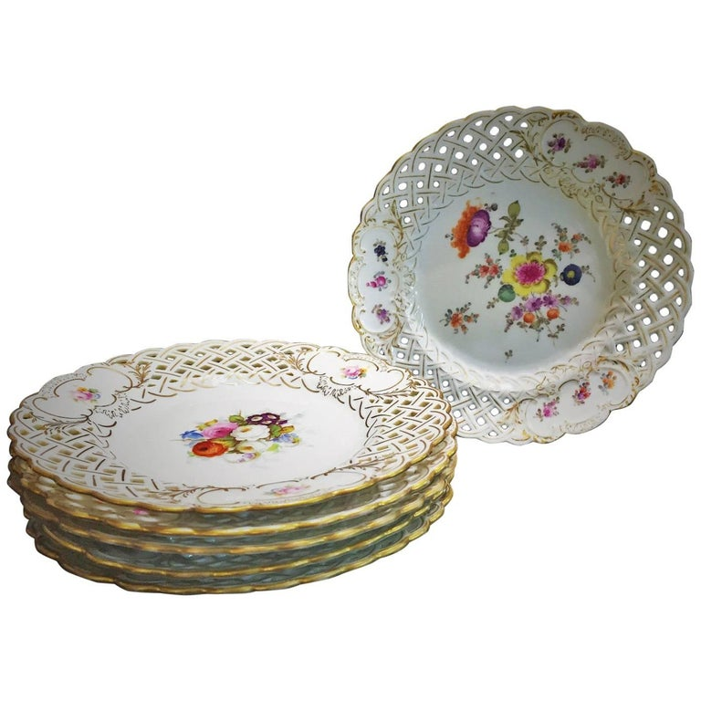 Antique Coalport Porcelain Dessert Plate At 1stdibs