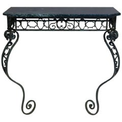 French Iron and Marble Console Table, circa 1850s