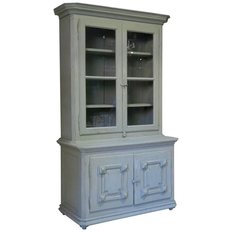 French 19th Century Painted Pinewood Cabinet