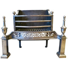 Polished Steel Antique Fire Grate