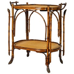 French Chinoiserie Bamboo Tea Table in Perret et Vibert Manner, Paris