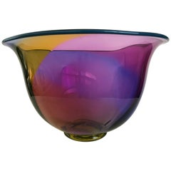 Modern Art Glass Bowl by Jan Erik Ritzman and Sven-Åke Carlsson, Transjö Hytta