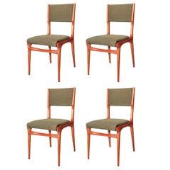 Four Chairs Carlo De Carli, Design 1950 for Cassina Italia, Mid-Century Modern