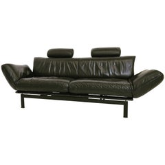 De Sede DS 140 Black Sofa Chaise Lounge