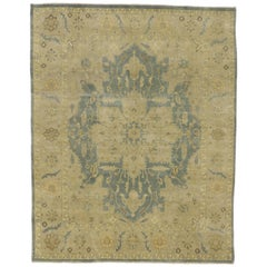 Contemporary Heriz Style Rug with Neutral Colors