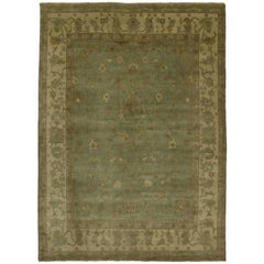 New Transitional Area Rug with Oushak Pattern and Eclectic Cottage Style