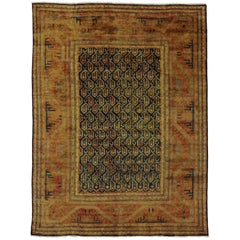 Contemporary Caucasian Kazak Style Area Rug with Arts & Crafts Style