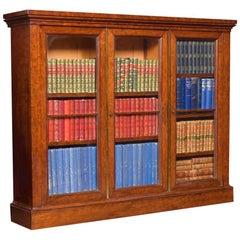 Georgian Figured Mahogany Dwarf Bookcase