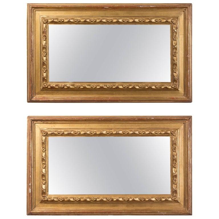 Pair of 19th Century Spanish Rectangular Mirrors