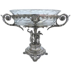 French Mid-19th Century Sterling Silver Centrepiece