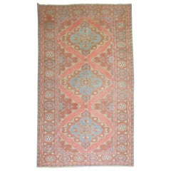SIlk Surface Vintage Turkish Flat-Weave Rug