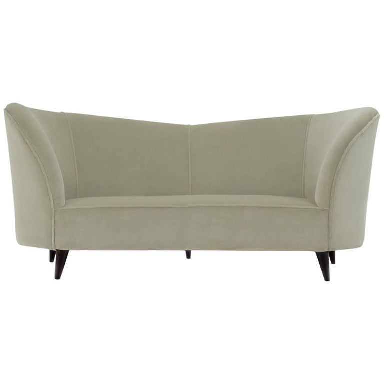 Curved Sofa by Cesare Lacca, Italy, 1950s