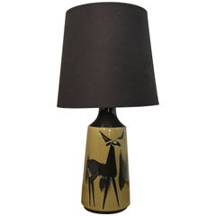 Olive Green Stag Lamp, 1960s, AWF Norway