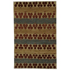 Transitional Indian Area Rug with Contemporary Art Deco Style
