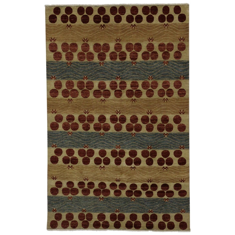 Transitional Indian Area Rug With Contemporary Art Deco Style For Sale At 1stdibs