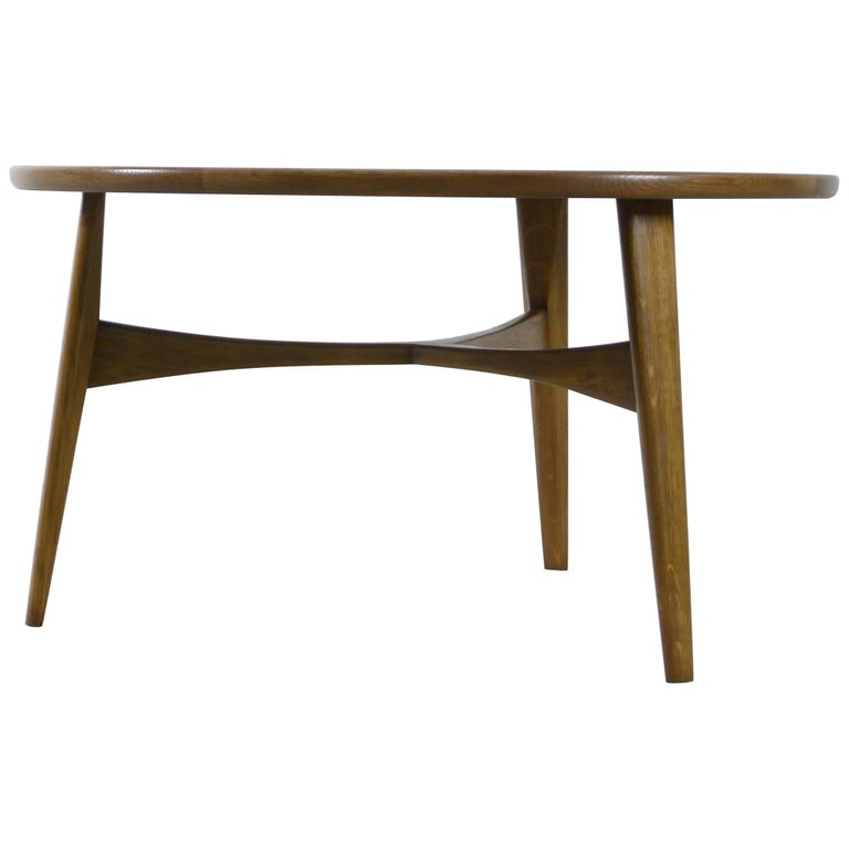 Madsen and Larsen for Willy Beck, Oak Wood Coffee Table with Label, 1960s