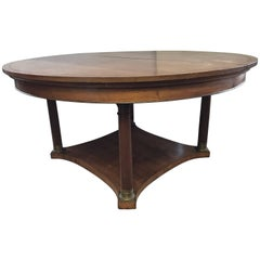 Neoclassical Round Extension Walnut Dining Table Potthast Brothers