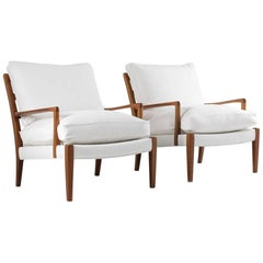 "Midcentury Swedish Lounge Chairs ""Löven"" by Arne Norell"