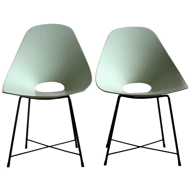 Mid Century Modern Rare Prototype Set  Chairs by Augusto Bozzi For Sale