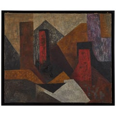 Abstract Oil on Canvas by Luis García Guerrero