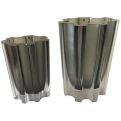 Two Tapio Wirkkala Glass Vases