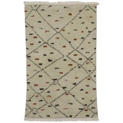 New Contemporary Moroccan Style Accent Rug