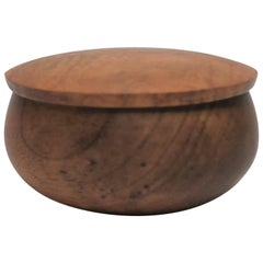 Round Wood Trinket or Jewelry Box