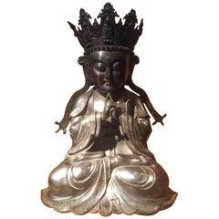 Bronze Figure of Seated King Buddha