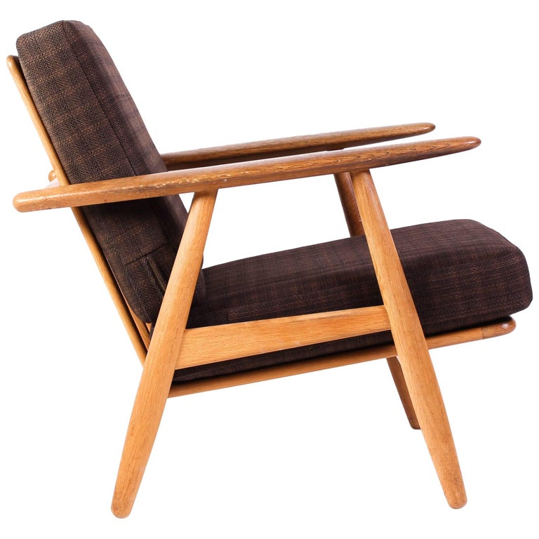 "Midcentury Hans J Wegner GE-240 ""Cigar"" Easy Chair by GETAMA, Denmark"