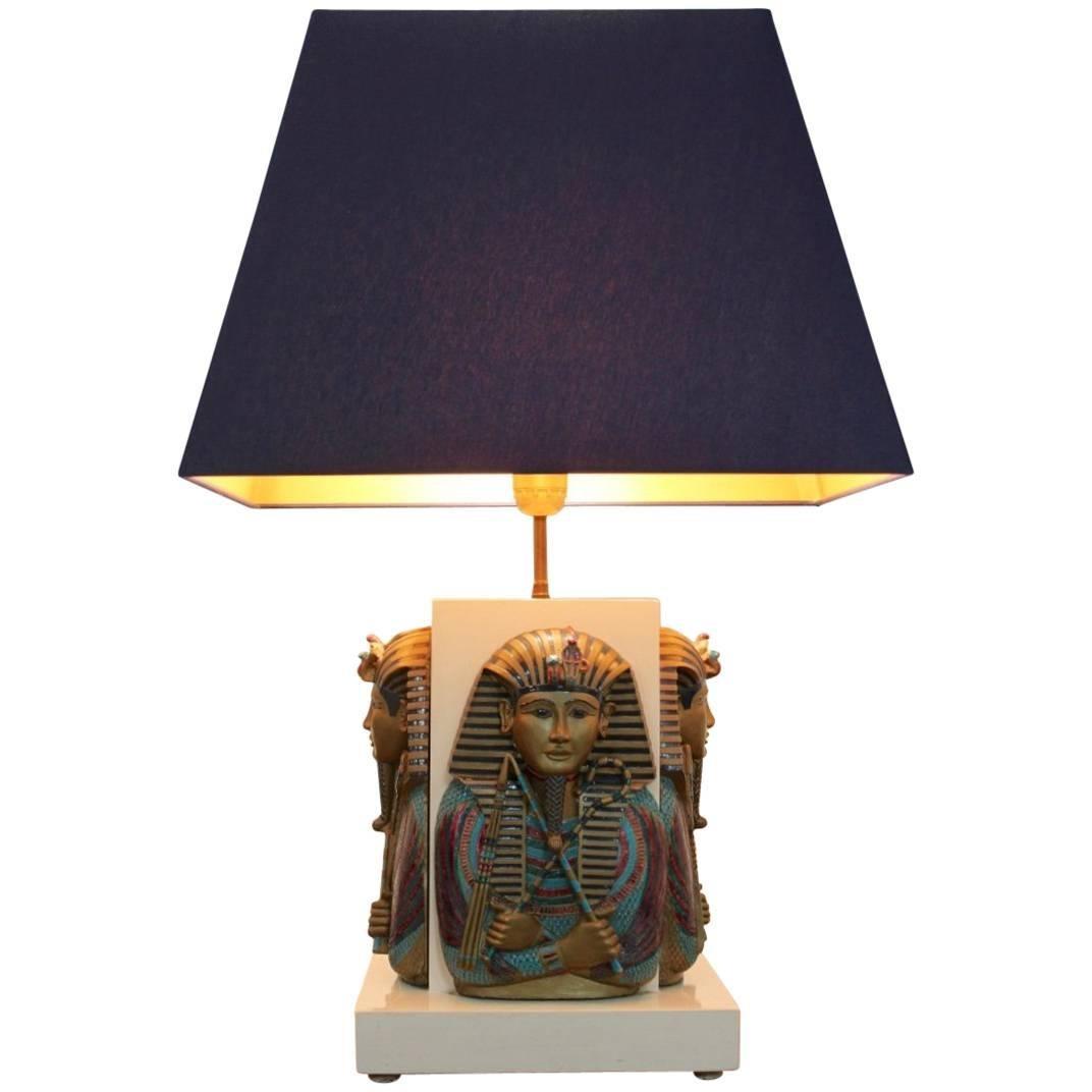 Exclusive Pharaoh Toetanchamon Table Lamp, France 1950s