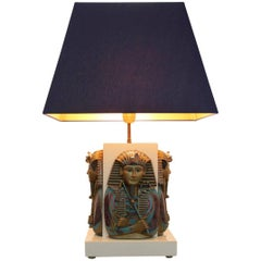 Exclusive Pharaoh Toetanchamon Table Lamp, France 1950s