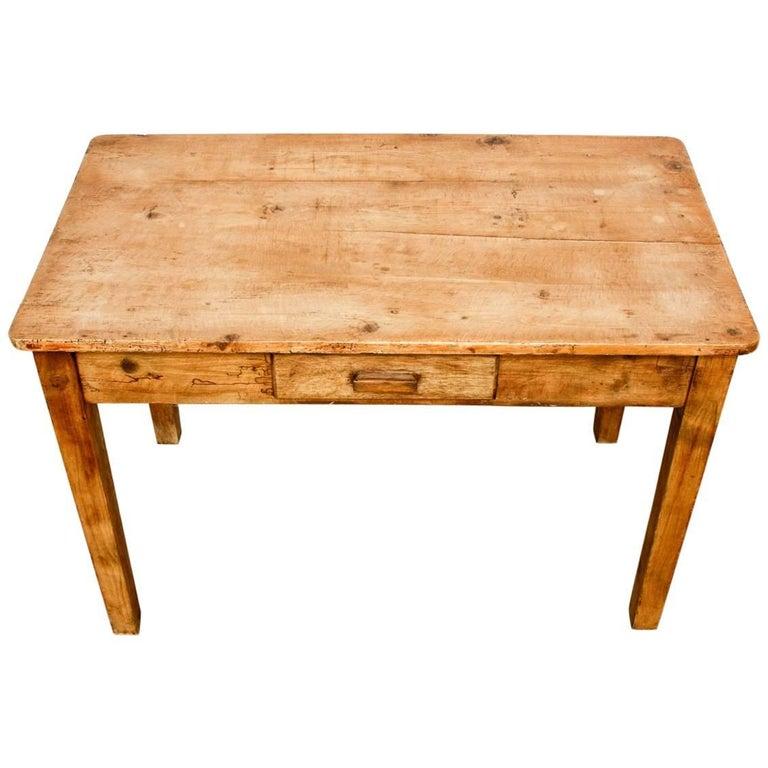 Rustic Pine Work Table or Farmhouse Desk