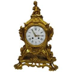 Napoleon Fire-Gild Bronze Cimney Clock by Jean-Louis-Benjamin Gros a Paris