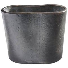 Original 21st Century Contemporary Minimalist Cast Steel Vase by Scott Gordon