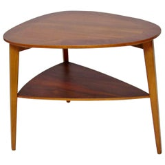 Midcentury Teak End Table by Holger Georg Jensen for Kubus, circa 1960