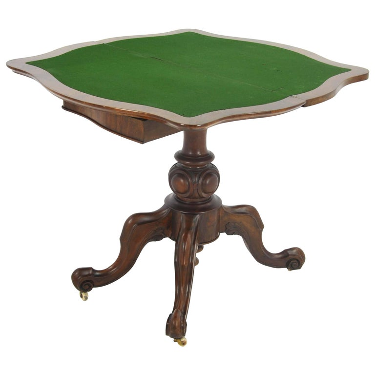 Antique Card Table Victorian Card Table Walnut Scotland 1870 At