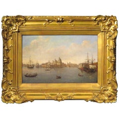 19th Century Painting of the Mouth of The Grand Canal, Venice, circa 1880