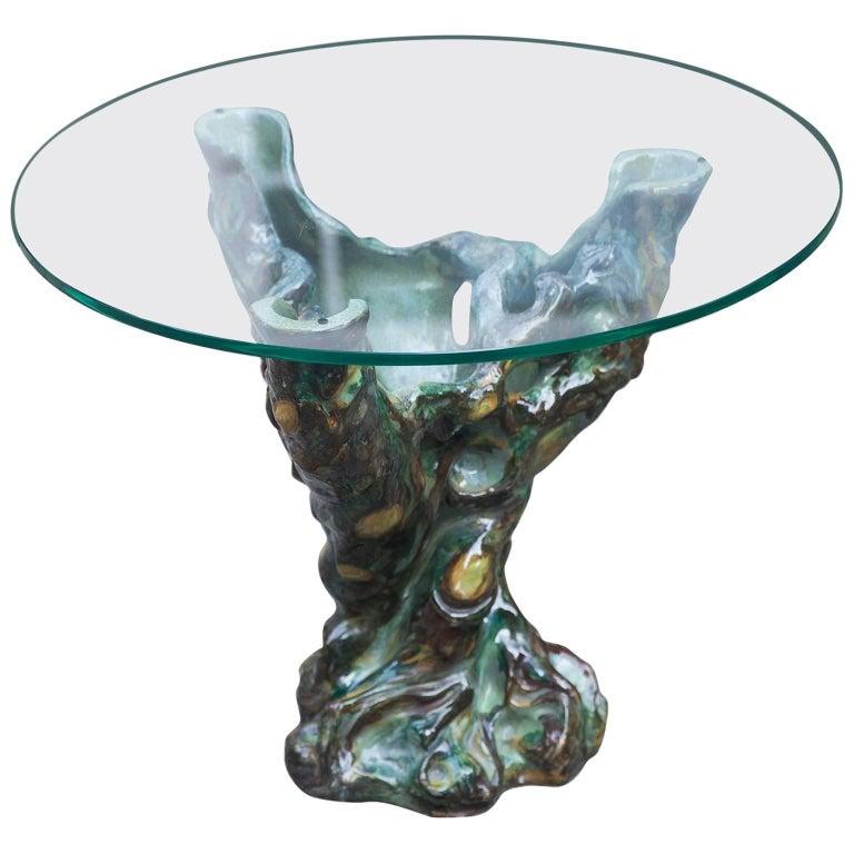 Italian Sculptural Ceramic Side Table 1960s